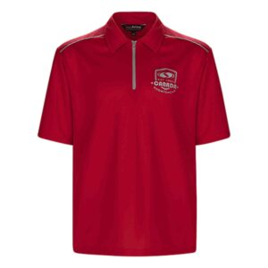 Polo shirt with 1/4 zip placket
