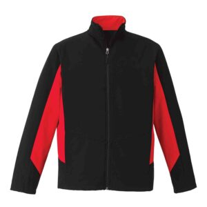 Unlined two-toned soft shell jacket
