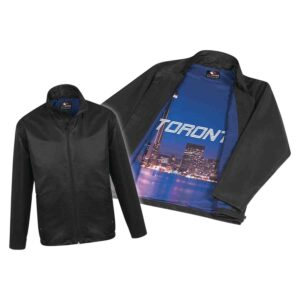 Jacket with sublimated lining