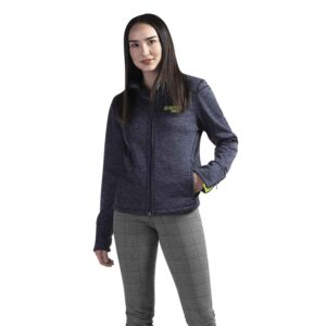 Yoga jacket with zippered cuffs