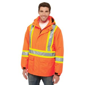 Armour – Hi-Vis Insulated Polyester Canvas Workwear Parka