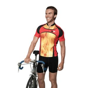 Sublimated 1/2 zip cycling jersey