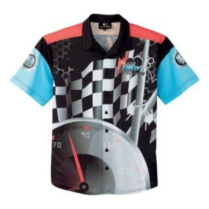 Sublimated full button down short sleeve shirt
