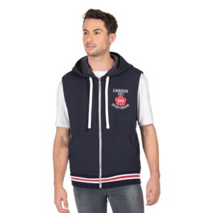 Solid vest with hood