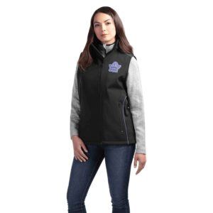 Solid unlined Softshell Vest with piping detail